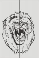 Шаблон оскал льва №3