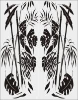 Бамбук в векторе №32