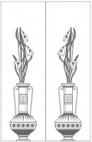 Пескоструйный рисунок ваза №32