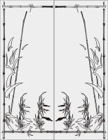 Бамбук в векторе №33