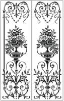 Пескоструйный рисунок ваза № 33