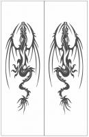 Пескоструйный рисунок Дракон №3