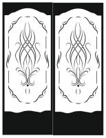 Пескоструйный рисунок на двери №36