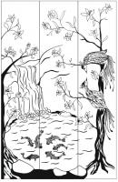 Пескоструйный рисунок птицы №386