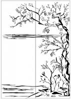 Пескоструйный рисунок птицы №388