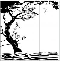 Пескоструйный рисунок птицы №389