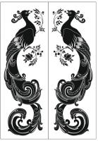 Пескоструйный рисунок птицы №390
