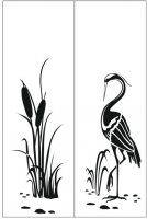 Пескоструйный рисунок птицы №391