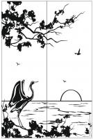 Пескоструйный рисунок птицы №393