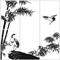 Пескоструйный рисунок птицы №395