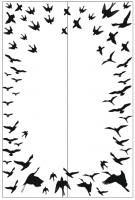 Пескоструйный рисунок птицы №396