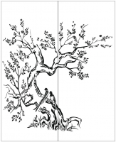 Пескоструйный рисунок птицы №397