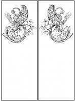 Пескоструйный рисунок птицы №399