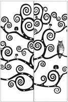 Пескоструйный рисунок птицы №400