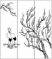 Пескоструйный рисунок птицы №401