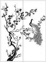 Пескоструйный рисунок птицы №403
