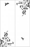 Пескоструйный рисунок птицы №404