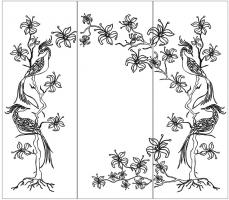 Пескоструйный рисунок птицы №409
