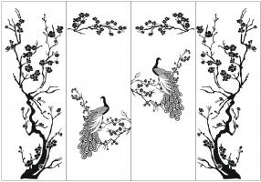 Пескоструйный рисунок птицы №410