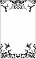 Пескоструйный рисунок птицы №411