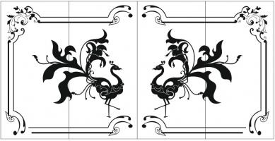Пескоструйный рисунок птицы №412