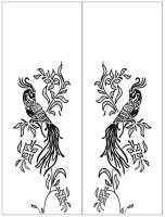 Пескоструйный рисунок птицы №413
