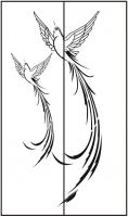 Пескоструйный рисунок птицы №415