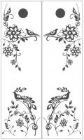 Пескоструйный рисунок птицы №449