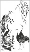 Пескоструйный рисунок птицы №451