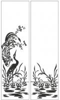 Пескоструйный рисунок птицы №452