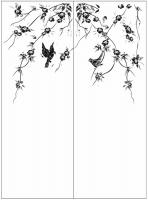 Пескоструйный рисунок птицы №456