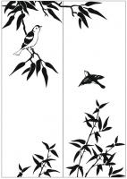 Пескоструйный рисунок птицы №457