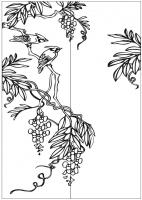Пескоструйный рисунок птицы №458