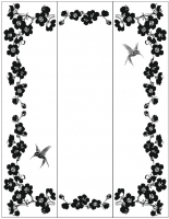 Пескоструйный рисунок птицы №461