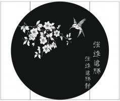Пескоструйный рисунок птицы №462