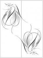 Пескоструйный рисунок птицы №463