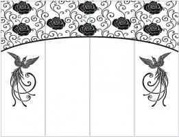 Пескоструйный рисунок птицы №465