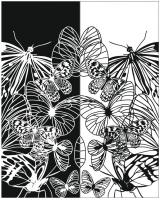Пескоструйный рисунок бабочки №503