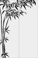 Бамбук в векторе №5