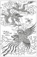 Пескоструйный рисунок Дракон №5