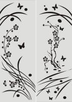 Бабочки в векторе №5