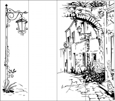 Пескоструйный рисунок Архитектура 54