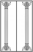 Пескоструйный рисунок Колонны №6