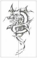 Пескоструйный рисунок Дракон №6