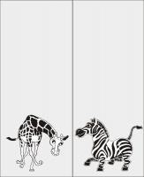 Жираф и зебра №6