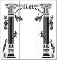 Пескоструйный рисунок Колонны №64