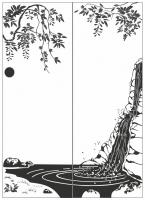 Пескоструйный рисунок Водопад №66