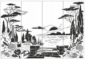 Пескоструйный рисунок Пейзаж №67
