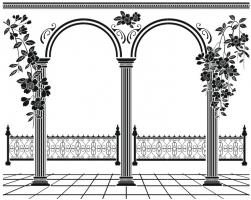 Пескоструйный рисунок Колонны №67