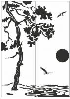 Пескоструйный рисунок Пейзаж №68